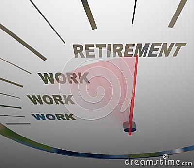 Retirement Speedometer Racing to End of Work Career