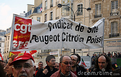 Retirement strike in Paris Editorial Image