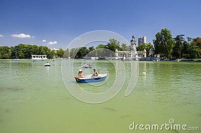 Retiro Park Lake, Madrid Editorial Image
