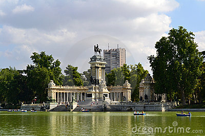 Retiro Park in Madrid Editorial Stock Image