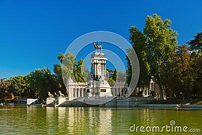 Retiro Park in Madrid Spain