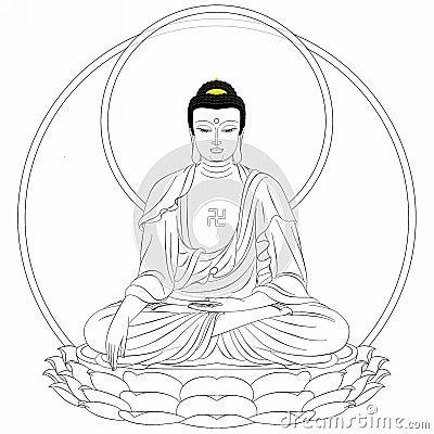 dessin de bouddha photo stock image 45147779
