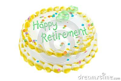 Retraite heureuse de fête de gâteau