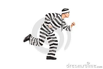 Retrato cheio do comprimento de um escape do prisioneiro