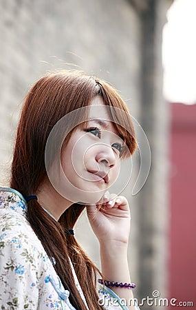 Retrato chinês da beleza