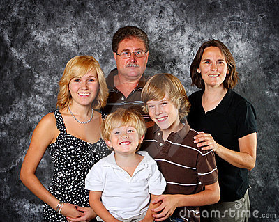 Retrato clásico de la familia