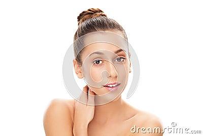 Retrato da beleza da fêmea nova