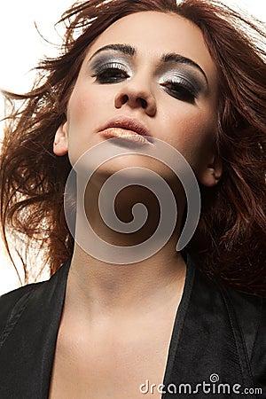 Retrato da sensualidade da menina do redhead