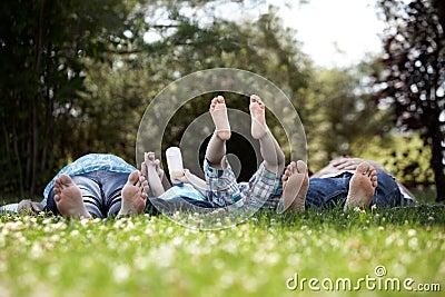Retrato de la familia de pies