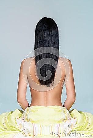 Fotos de chica desnuda de pelo negro