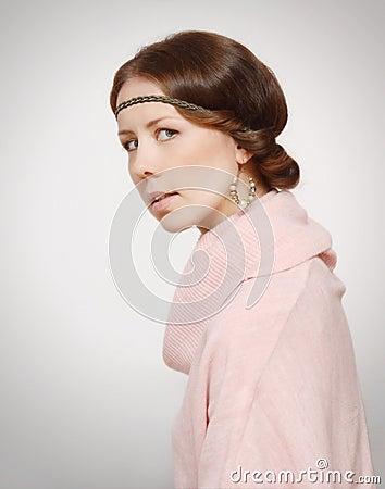 Retrato de la mujer joven