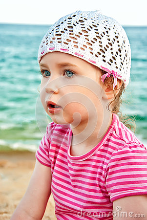 Retrato de la niña linda