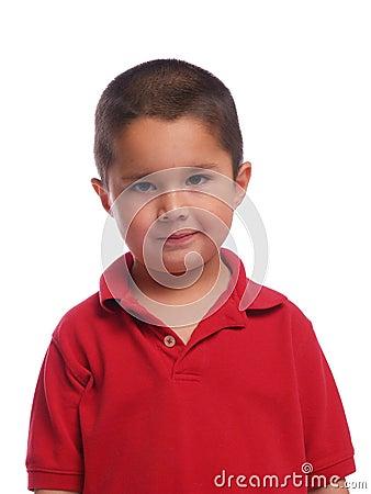 Retrato de um menino latino-americano