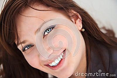 Retrato de uma menina bonita.