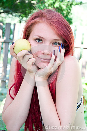 Retrato de uma menina bonita