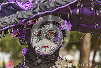 Retrato de uma pessoa disfarçada Imagem Editorial