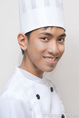 Retrato del cocinero joven del chino