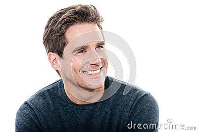 Retrato dentudo de la sonrisa del hombre hermoso maduro