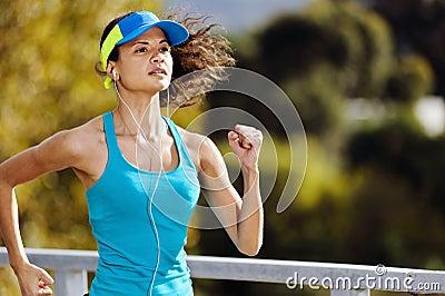 Retrato do atleta da resistência