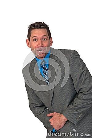 Homem feliz de Businuss