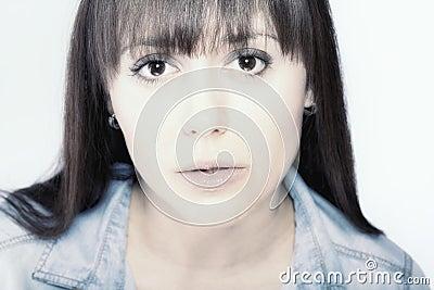 Retrato facial de la belleza