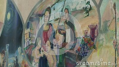 Retrato Pintado De Nun Com Família video estoque