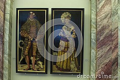 Retratos de Lucas Cranach Imagen editorial