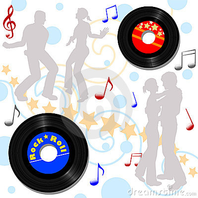 Retro 45 RPM Disco Record Hop