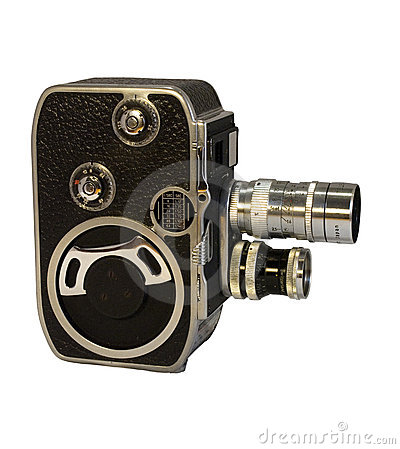 Free Retro 8mm Cine Camera With Two Lenses Stock Photos - 8102403