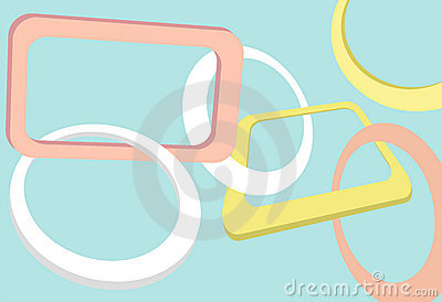Retro abstract shapes and copy space frames