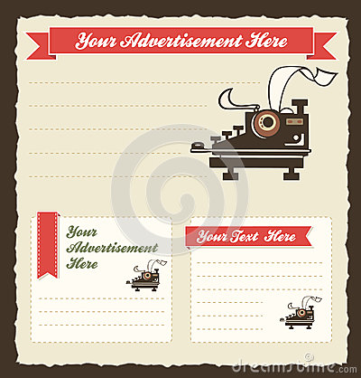 Retro Advertisement Template Royalty Free Stock Photography ...