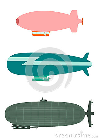 Retro airship set.