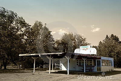 Retro American Drive-in Restaurant