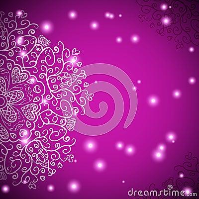 Retro antique ornament purple background with