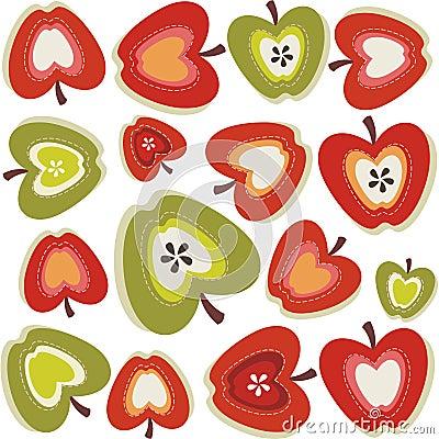Retro apple pattern