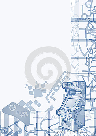 Retro arcadeachtergrond