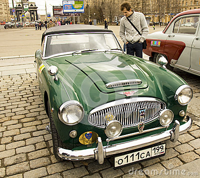 Retro Austin-Healey Editorial Image