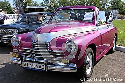 Retro auto show. GAZ M20 Pobeda (Soviet-made autom Editorial Stock Image