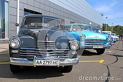 Retro auto show. GAZ M20 Pobeda (Soviet-made autom Editorial Image