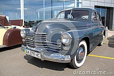 Retro auto show. GAZ Pobeda (Soviet-made automobil Editorial Photo