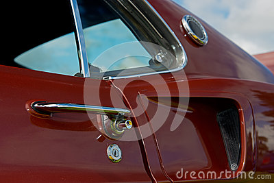 Retro automotive door handle
