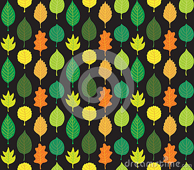 Retro Autumn Leaves Pattern