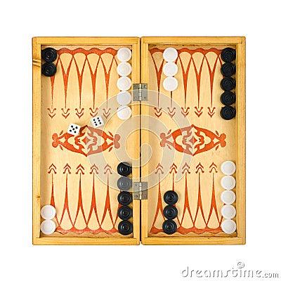 Free Retro Backgammon Game Stock Image - 5412141