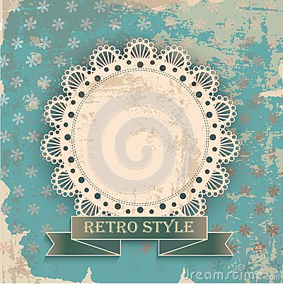 Retro background with napkin
