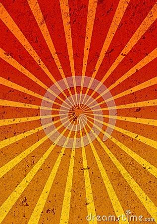Retro background with rays