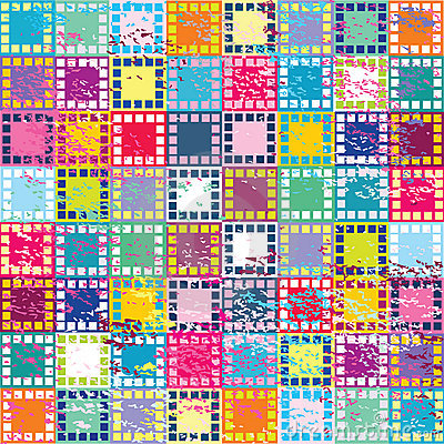 Retro background with squares
