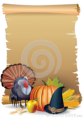 Retro background Thanksgiving turkey