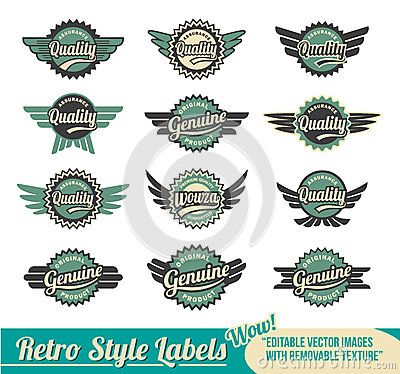 Retro badges and labels