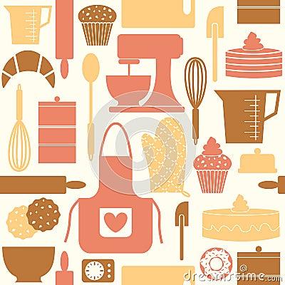 Free Retro Baking Background Royalty Free Stock Images - 24172009