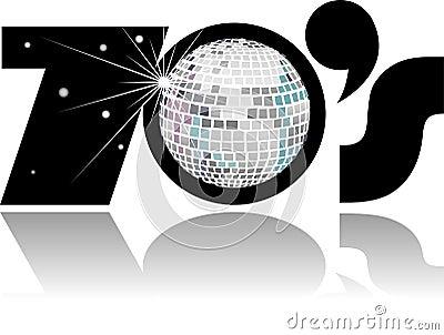 Retro Bal van de Disco van de Jaren  70/eps